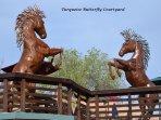 Beautiful horses next to the Casita