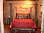 Old World poster Queen bed
