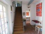 L'accès à l'étage et aux chambres
