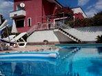 Casa vacanza in villa con piscina, vista mare, Cilento
