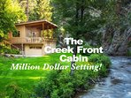 The Creek Front Cabin is located on a private drive for ultimate privacy