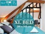 LITERIE DE QUALITE  ET TAILLE XL  tous les lits mesurent 200cm de longueur