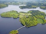 Lake Vassiviere offers, walks, cycling, restaurants, watersports, fishing, canoes & pedaloes