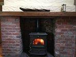 Wood and turf {peat} stove