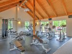 Burn some energy and stay in shape during your Maine getaway in the clubhouse fitness center, where you can jog, bike...