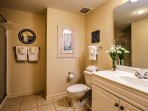The home features 3 bathrooms for guests to use.