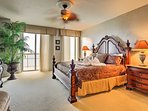 The master suite features a deluxe king-sized bed, exquisite chaise lounge, plush high-end berber carpeting, and direct...