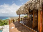 West side annex palapa with 2 bedrooms and 1 shared bathroom.