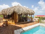 East side annex palapa with 2 bedrooms and 1 shared bathroom.