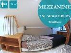 MEZZANINE  avec 2 lits simples