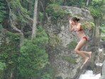 Jump from the cliffs into an amazing swimming hole.  Just under 1 mile from the cottage.