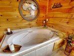 Perfect place to unwind in the master suite private Jacuzzi