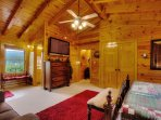 Spacious Master Suite, time to relax, you are here at Bear Paw Retreat !!