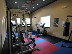 Gym in the clubhouse for free use