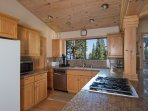 Spacious kitchen with stainless steel amenities