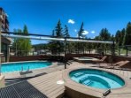 Indoor/outdoor heated pool and 4 hot tubs