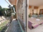 Soggiorno e balcone