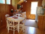 Charming kitchen and dining area with Pottery Barn dining set