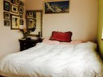 King size bed with countryside views. Lots of storage space