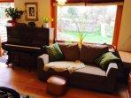 Dining room sofa.