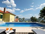 Villa Maruncela with 24m2 private pool, gym, playground, and spacious accommodation for 11 person