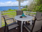 Dining table on the lanai - who doesn't love an oceanfront dinner?