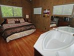 King Bedroom with Whirlpool Tub