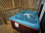 Lower Level Deck with Hot Tub