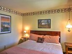 Head into one of the bedrooms to get a good night's rest.
