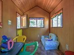Kids will adore this indoor playhouse.