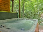Relax in the soothing hot tub.