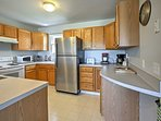 Prepare tasty recipes in the fully equipped kitchen.