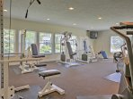 Stay true to your workout routine in the fitness center!