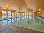 The indoor lap pool is great for added exercise!