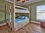 2nd Level Bedroom 4 - Queen/Queen Bunks with Full size Trundle Bed
