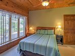 Drift off to peaceful slumber in one of the home's comfortable bedrooms.