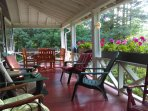 Dine or just relax with coffee and a book on our expansive front porch.