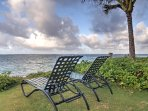 Kick back in one of the lawn chairs to soak up the sweet island breezes.