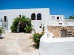 Beautiful villa facade