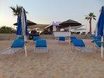 Beach bar at Ayia Thekla beach.
