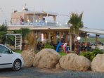 Nissaki bar /restaurant at Ayia Thekla beach open from morning till late night.