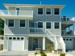 8 E. 45th Street - a 2 floor duplex on the Oceanside of Brant Beach in LBI. Less than 5 min to beach