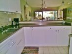Renovated kitchen, all new, with a view to the sea as you cook