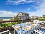Spend your days dining on the deck of this 4-bedroom, 3-bathroom  Fire Island vacation rental house!