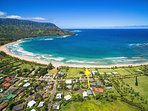 Located within minutes to Hanalei Bay!  Sand, Surf and Sun!