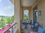 Enjoy your mornings out on this charming veranda.