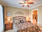 This master bedroom will be a welcoming site at the end of a long day.