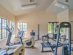 Don't stress about getting off track from your workout routine because this community has a well-equipped fitness...