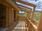 The home offers a balcony with unobstructed mountain views!