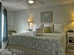 Retreat to this welcoming bedroom for a relaxing nap or peaceful nights sleep!